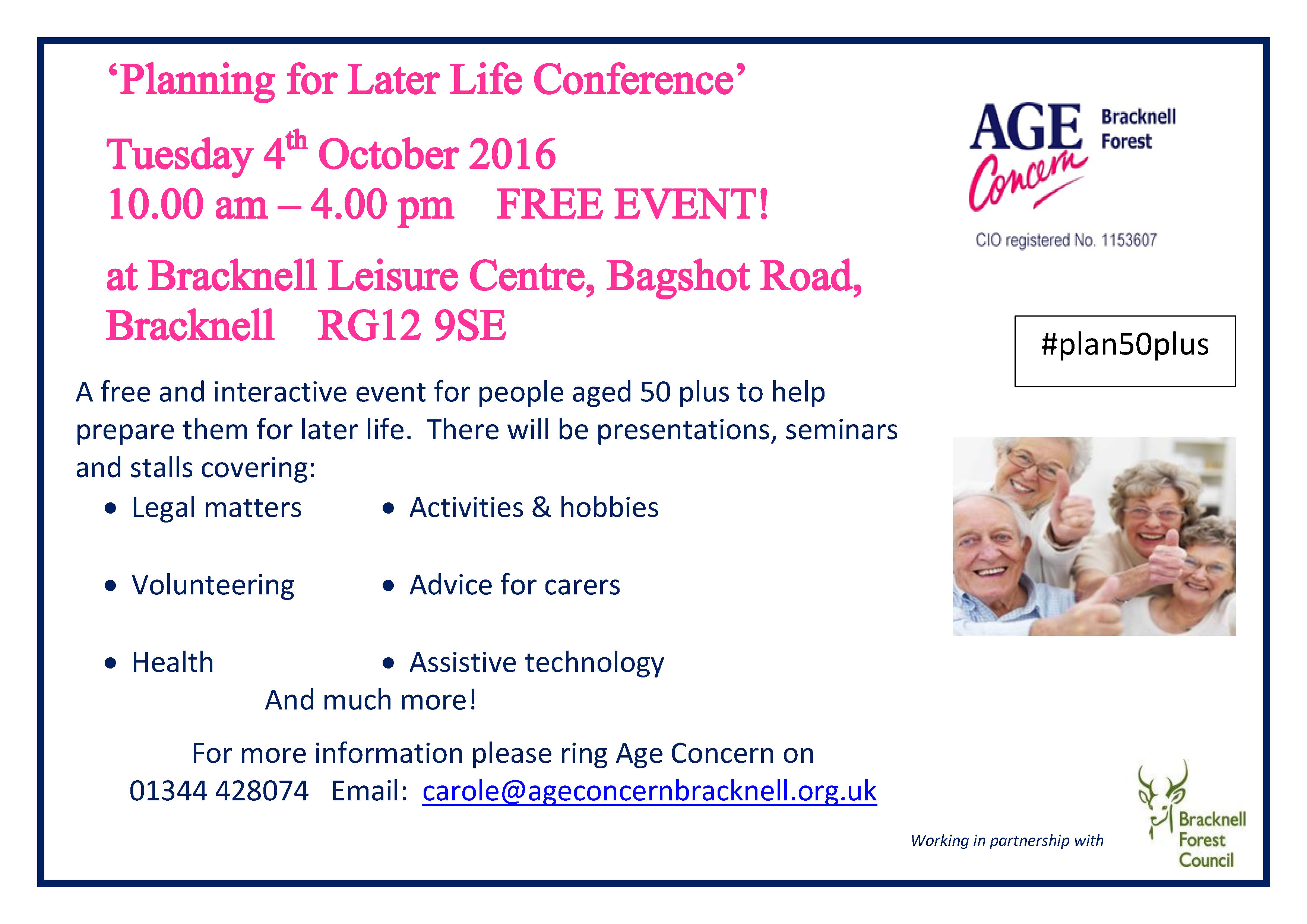 Age Concern - Planning for Later Life